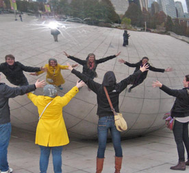 Students at the Bean