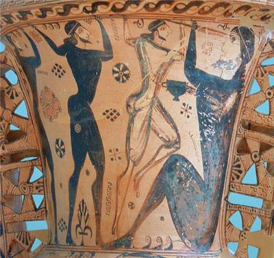 Odysseus blinding the Cyclops Polyphemus
