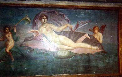 Pompeii painting of Venus